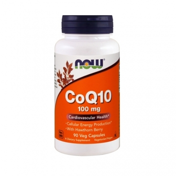 Now Foods CoQ10 100mg with Hawthorn Berry (90)