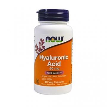 Now Foods Hyaluronic Acid 50mg + MSM (60)