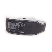 Gorilla Wear 4 Inch Padded Leather Belt (Black)