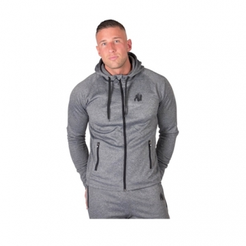 Gorilla Wear Bridgeport Zipped Hoodie Dark Gray