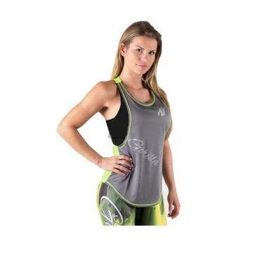 Gorilla Wear Florida Stringer Tank Top (Gray/Neon Lime)