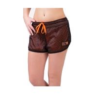 Gorilla Wear Madison Reversible Shorts (Black/Neon Orange)