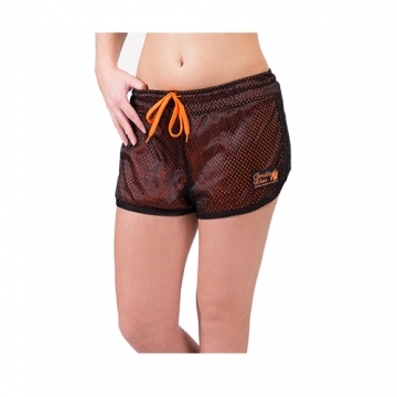 Gorilla Wear Madison Reversible Shorts (Black/Neon Orange)