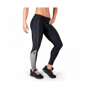 Gorilla Wear Womens Carlin Compression Tight Black Gray